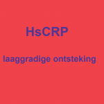 Test HsCRP laaggradige ontsteling